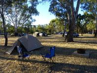 Geliehene Zelte stehen am besten