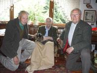 Willi Friedl mit Karl Krautwurst und Oswald Henzel