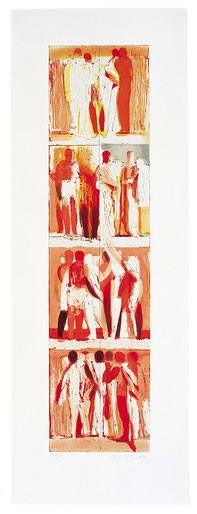 Michael Hedwig, Bewegungen der Seele III, Radierung, 2005, Papierformat: 107,5x38cm, Ed. 30