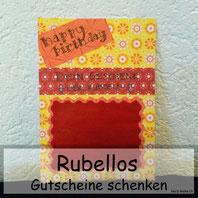 Rubellos: Geburtstagskarte zum aufrubbeln