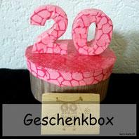 Geschenkbox 20. Geburtstag selber machen