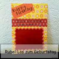 Geburtstagskarte mit Rubellos