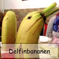 Tischdekoration Delfin Bananen