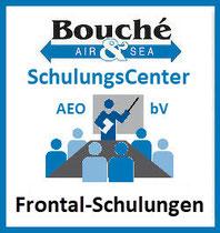 Logo Frontal-Schulungen LuftSi für bekannte Versender, reglementierte Beauftragte, zugelassene Transporteure, reglementierte Lieferanten: SchulungsCenter AEO & bV der Bouché Air & Sea GmbH