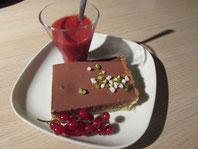 Tarte au chocolat sur crème d'amande