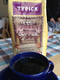プレミアもののカウアイコーヒー。味はいかが?