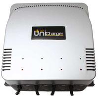 Unibat Multicharger 2 Ladegerät, 12 Volt, 4 Ah, 1-4 Batterien gleichzeitig