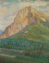 massif de la Chartreuse, le mont Granier  92x72 huile sur toile André Aaron Blils