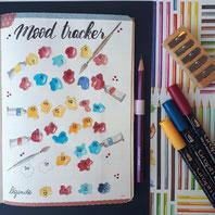 paper break boutique creteil bullet journal ateliers page mood tracker inspiration dessin aquarelle tubes peinture tache