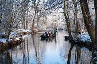 Kochmaschiene im Gasthaus Kaupen 6 während der Winterkahnfahrt
