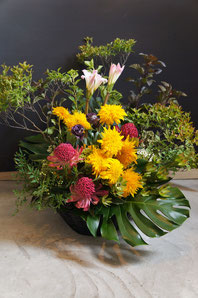 ギフト・花・開店・個展・イベント開催祝 季節の枝物を使い和風のアレンジ