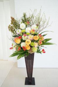 ギフト・花・開店・個展・イベント開催祝 枝物やダリアなど大ぶりなお花を使って華やかなに