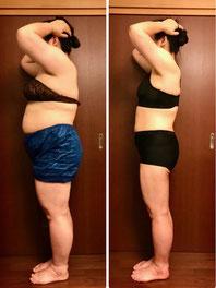 DNAパーソナル痩身 40代女性 3ヶ月後の写真
