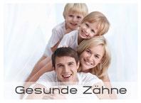 Bild: Gesunde Zähne für Kinder und Erwachsene mit Prophylaxe und Zahnreinigung (© Deklofenak - Fotolia.com)