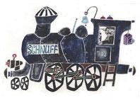 E.M. Ott-Heidmann - Miniposter Lokomotive SCHNUFF
