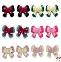 Boucles d'oreilles noeuds papillons
