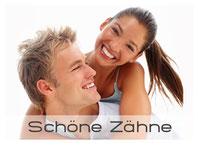 Schöne weisse Zähne mit Bleaching (Zahnaufhellung), Veneers und Keramik, (© Yuri Arcurs - Fotolia.com)