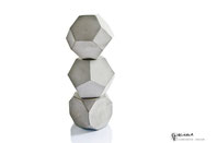 Geometric Concrete Three Cubes by PASiNGA