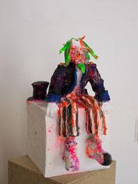 "Oliver Kropf,  ""Mr. Candy"", 2013, MIschtechnik, 32 x 25 x 46 cm"