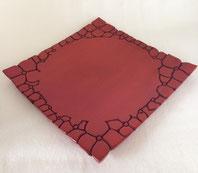 鎌倉彫 角皿 紫陽花|鎌倉漆工房いいざさ