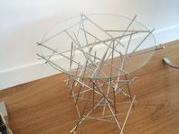 mesa única de lujo y diseño con acero inoxidable