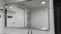 Espejo de diseño moderno con acero inoxidable