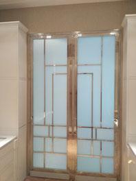 puerta decorativa acero inoxidable de diseño
