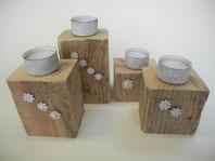 Adventsgesteck Kerzenhalter Mohnkapseln