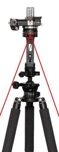 pocketPANO ohne Extension Rod Verlängerung aus Carbon zur Erhöhung des Abstandes zwischen Kamera und Stativ oder Stativkopf
