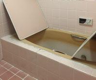 在来浴室 タイル 浴槽変色・劣化 交換