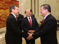 rencontre avec le vice-président de l'assemblée nationale populaire de Chine, ancien ministre de la santé de la Chine.