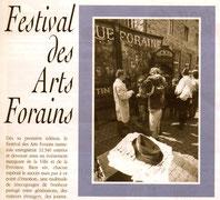 Présentation du Festival des Arts Forains