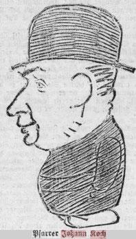 Portrait von Pfarrer Koch Jean aus dem Escher Tageblatt vom 26.07.1927