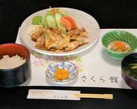 黒豚生姜焼き定食 1,100円