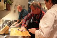 Kochkurs im Hotel & Restaurant Eggers / bei der Arbeit