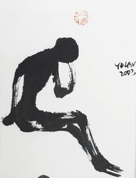人.5 MAN 5  32X38CM 纸本水墨  INK ON PAPER 2003