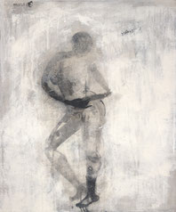 舞09 DANCER 09 60X50CM 布面水墨与丙烯 INK & ACRIYLIC ON CANVAS 2003