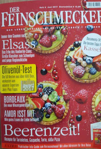 "Cover der Zeitschrift ""Der Feinschmecker"""