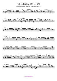 Fill-In Friday Schlagzeugnoten PDF Drum Fills