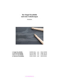 Single Paradiddle und Umkehrungen Rudiments PDF