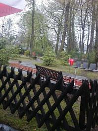 Der Regen hat eingesetzt und uns zum Aufhören gezwungen