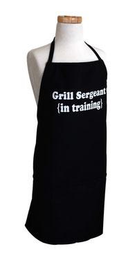 Schwarze Kochschürze für Jungs Grill Sergeant (in training)