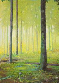 JENS HAUSMANN, WALDSTÜCK 14, 2011, Öl auf Leinwand, 70 x 50 cm, € 3.600,--