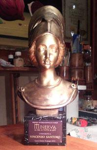 La bellissima statuetta del Premio dedicata a Minerva, Dea di tutte le Arti.