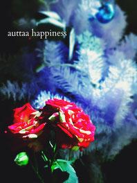 Xmas ディスプレイ バラ クリスマスツリー マタニティーマッサージサロン auttaahappiness