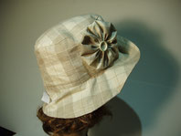 PA04 chapeau de pluie en toile enduite