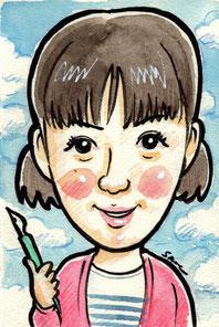 手描きのカラー似顔絵 永野芽郁