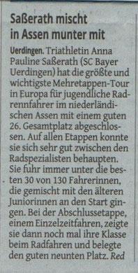 Westdeutsche Zeitung am 03.08.2014