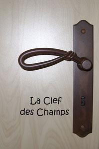 Poignée de porte fer rouillé chambre la Clef des Champs chambres d'hôtes de Ker Holen à St-Lyphard