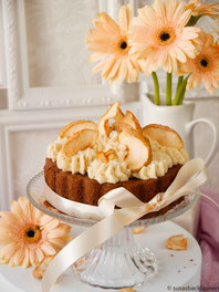 Mini-Schoko-Apfelkuchen mit cookie dough